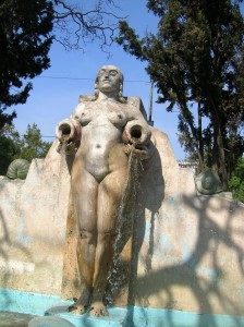 Fontaine mythique, parque Mexico